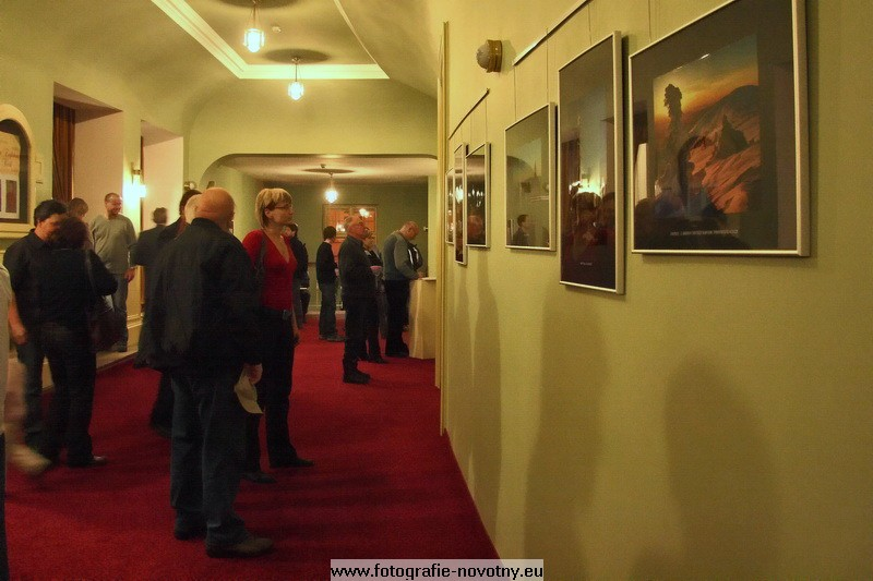 Vernissage in City theater in Jablonci nad Nisou